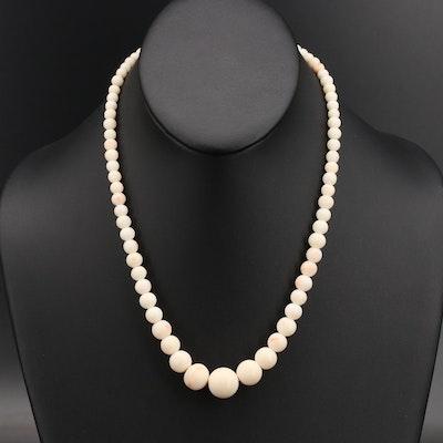 Vintage Graduated Coral Necklace