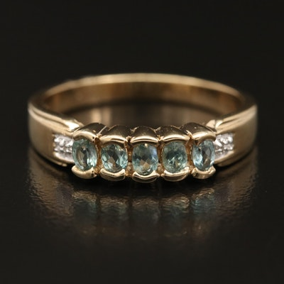 Sterling Silver Chrysoberyl and Zircon Ring