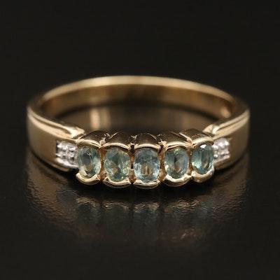 Sterling Chrysoberyl and Zircon Ring