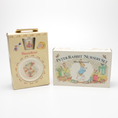 "Wedgwood ""Peter Rabbit"" and Royal Doulton ""Bunnykins"" Child's Dish Sets"