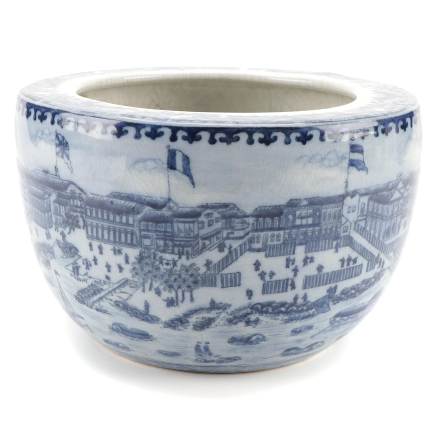 Claude Monet Museum Thirteen Factories of Guangzhou Ceramic Jardinière
