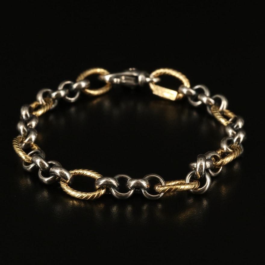 Italian Sterling Figaro Chain Bracelet