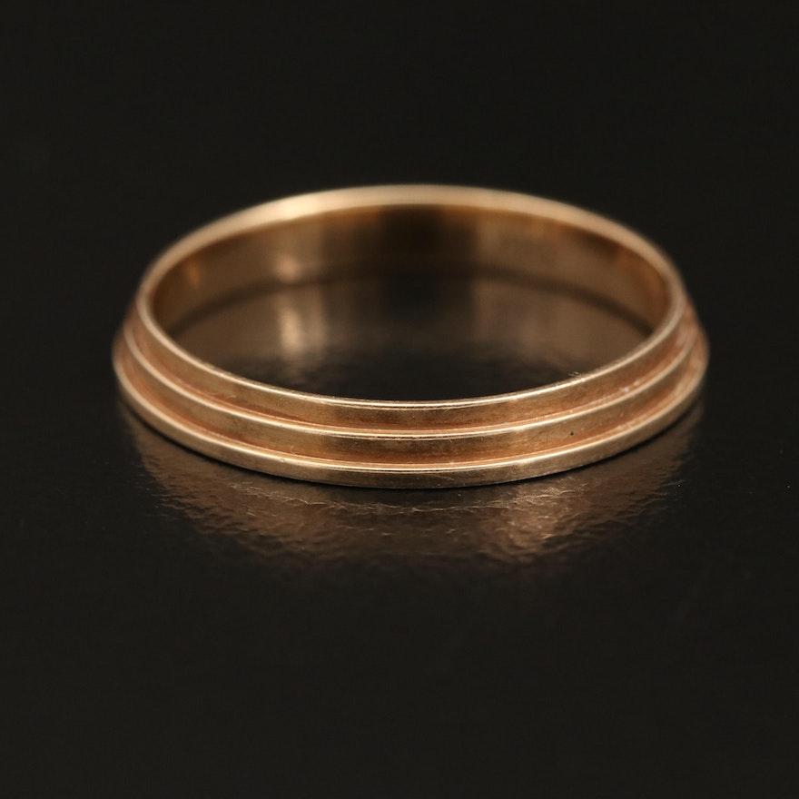 14K Gold Tiered Band