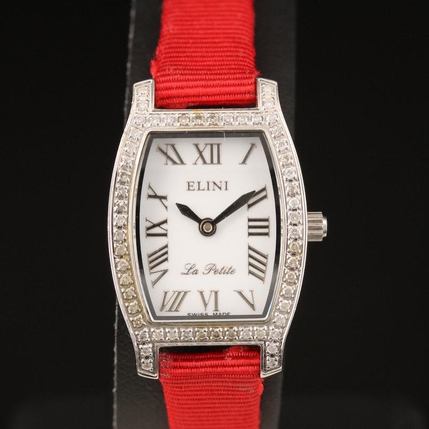 Swiss Elini La Petite Diamond Wristwatch
