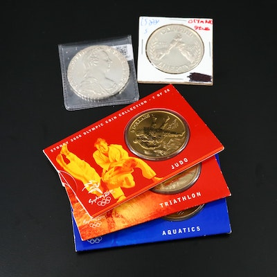 Maria Theresa Thaler Restrike and Olympic Coins