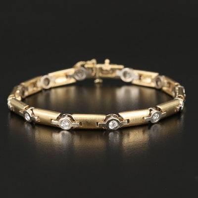 14K 1.98 CTW Diamond Station Bracelet