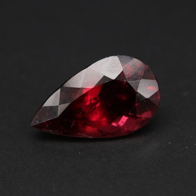 Loose 3.75 CT Pear Faceted Tourmaline