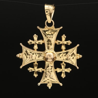 14K Jerusalem Cross Pendant