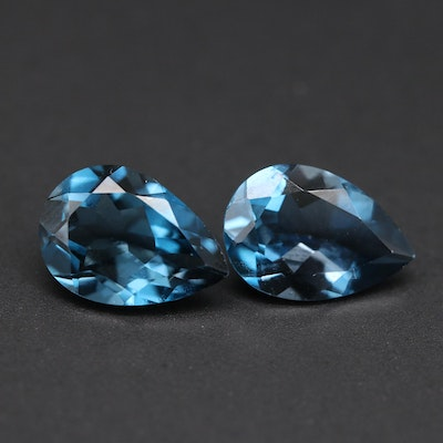 Loose 4.00 CTW London Blue Topaz Matched Pair