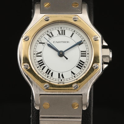 Cartier Santos Automatique 18K and Stainless Steel Wristwatch