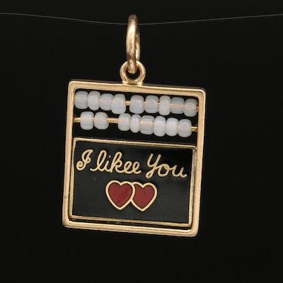 """14K """"I Like You"""" and """"You Like Me"""" Pendant"""