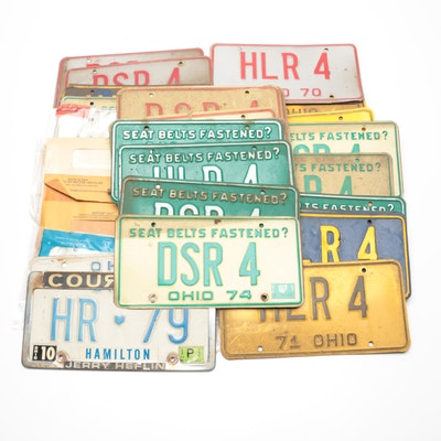 Ohio Metal Automobile License Plates, 1970s