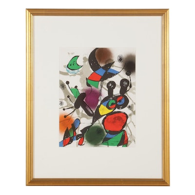 """Joan Miró Color Lithograph from """"Lithographs III"""""""