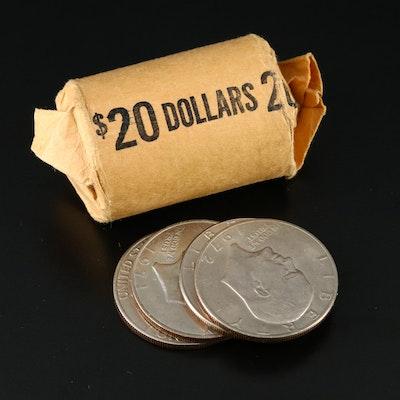 24 Clad Eisenhower Dollar Coins, 1970s