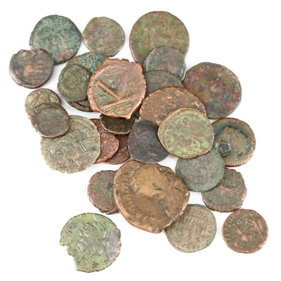 Thirty-One Ancient Roman Imperial AE4 Bronze Coins, ca. 200-400 A.D.