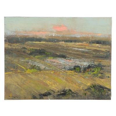 Stephen Hedgepeth Abstract Landscape Oil Painting, 21st Century