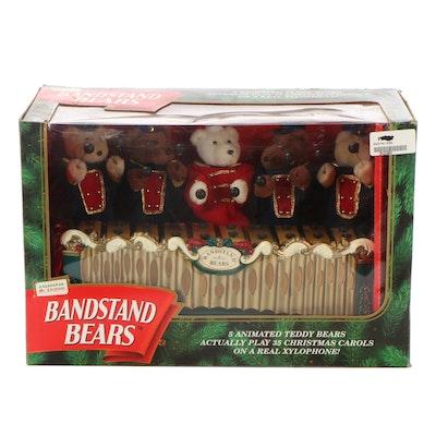 """Mr. Christmas Animated """"Bandstand Bears"""" Musical Figurine"""