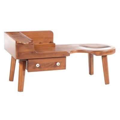 O'Hearn Furniture Maple Cobbler's Bench Style End Table