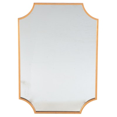 Decorative Rectangular Vanity Mirror in Gold