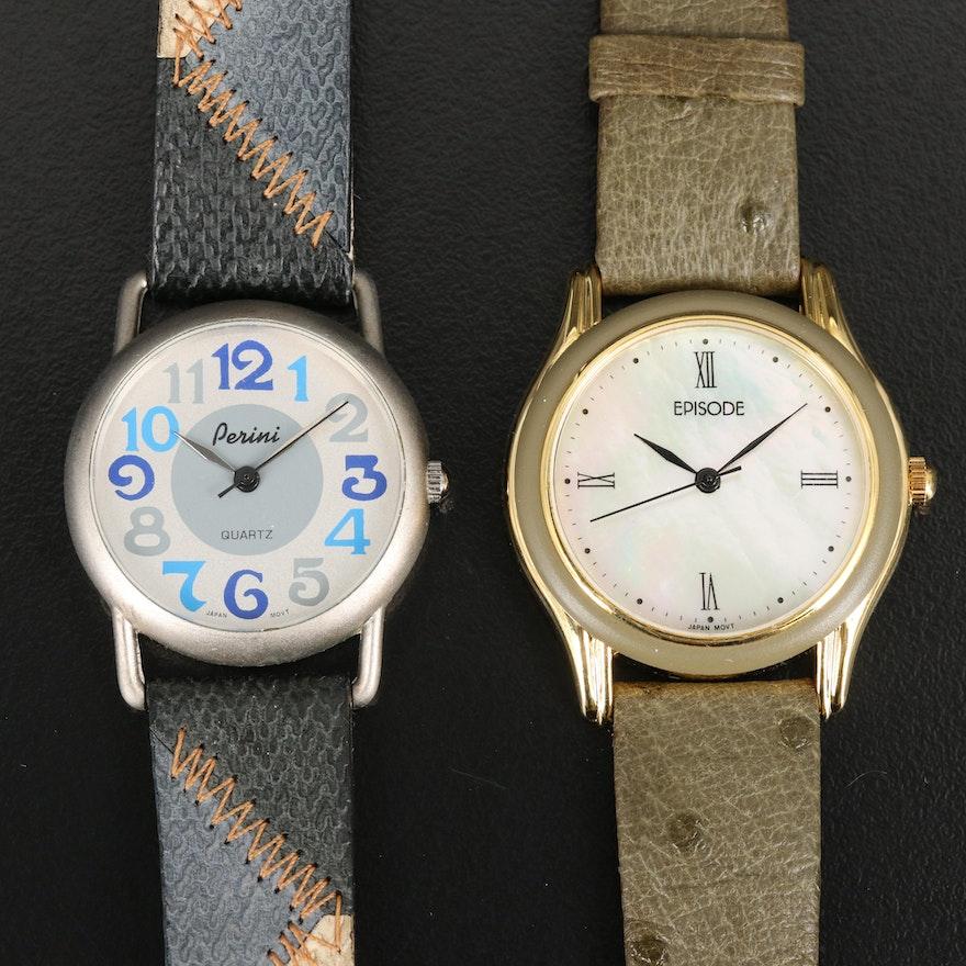 Pair of Stylish Quartz Wristwatches