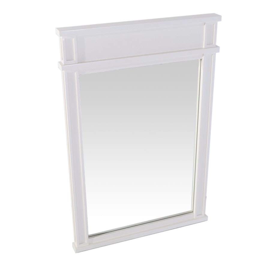"24"" White Rectangular Mahogany Bathroom Vanity Mirror"