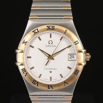 18K and Stainless Steel Omega Constellation Quartz Ref. # 1312.30.00 Wristwatch
