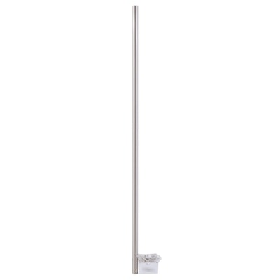 """60"""" Straight Shower Solid Brass Curtain Rod in Brushed Nickel"""