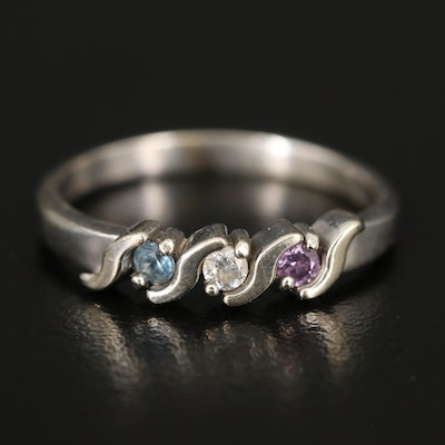 14K Spinel and Cubic Zirconia Ring
