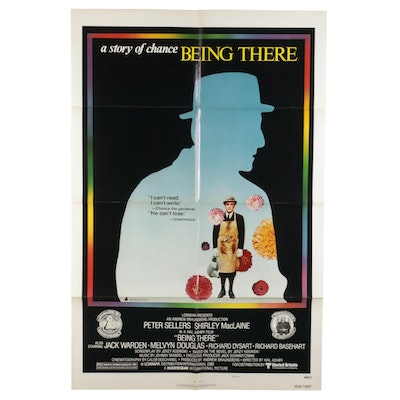 """""""Being There"""" Letterpress Halftone Style B One Sheet Movie Poster, 1979"""