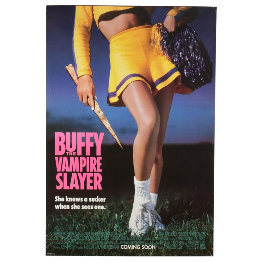 """""""Buffy the Vampire Slayer"""" Offset Lithograph One-Sheet Movie Poster, 1992"""
