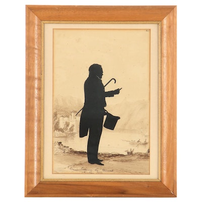Embellished Silhouette Cut-Out of Edward Lothian, 1831