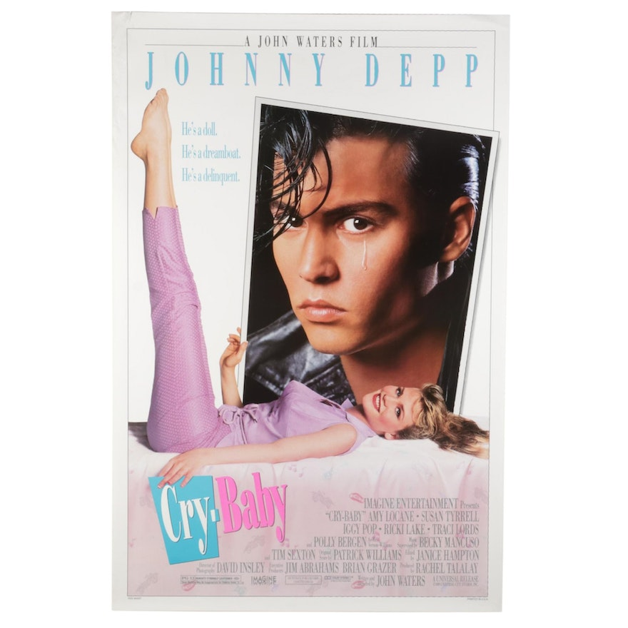 """""""Cry-Baby"""" Offset Lithograph Theatrical One Sheet Movie Poster, 1990"""