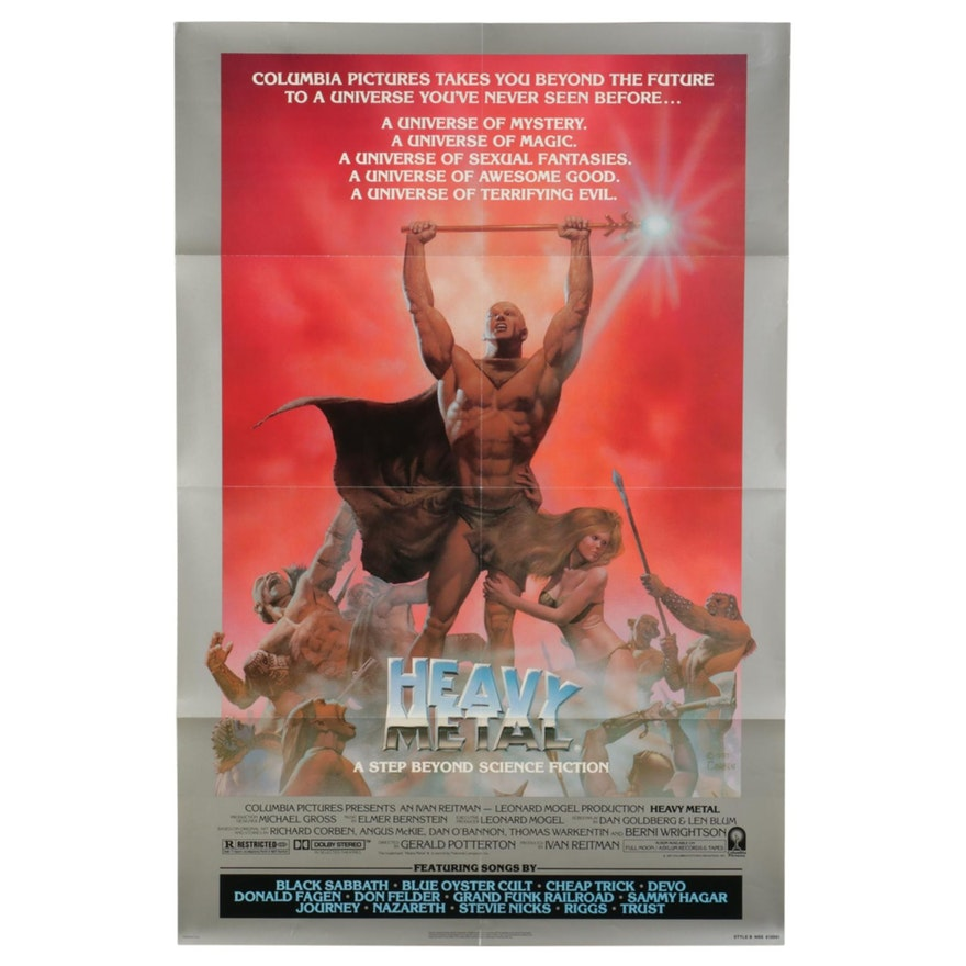 """""""Heavy Metal"""" Offset Lithograph One Sheet Movie Poster, circa 1981"""