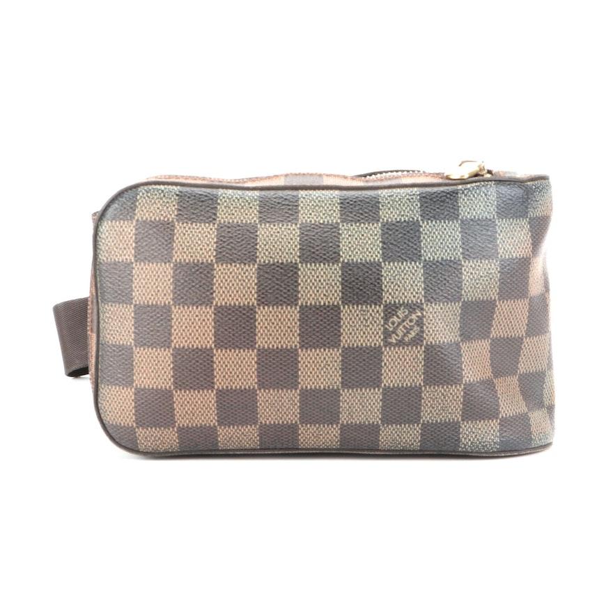 Louis Vuitton Geronimos Belt Bag in Damier Ebene Canvas
