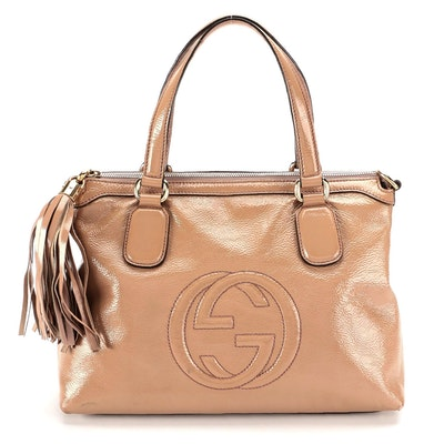 Gucci Soho Patent Leather Two-Way Tassel Bag