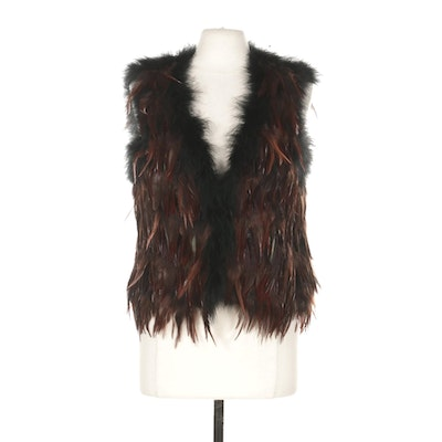 Topshop Feathered Vest