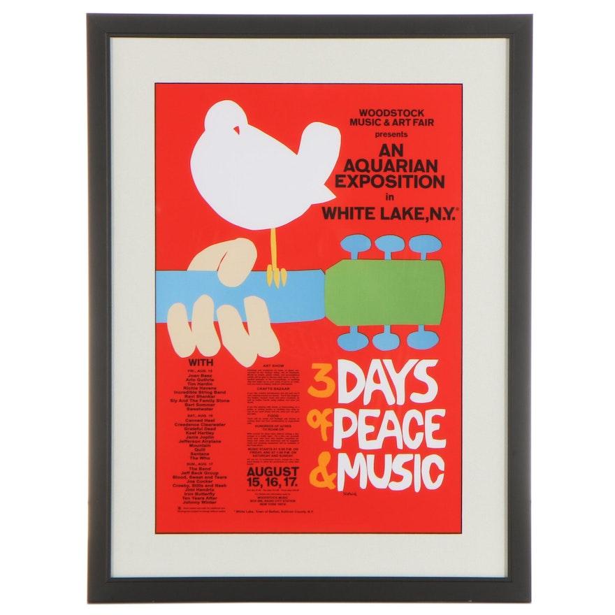 Woodstock Music and Art Fair Giclée After Arnold Skolnick, 21st Century