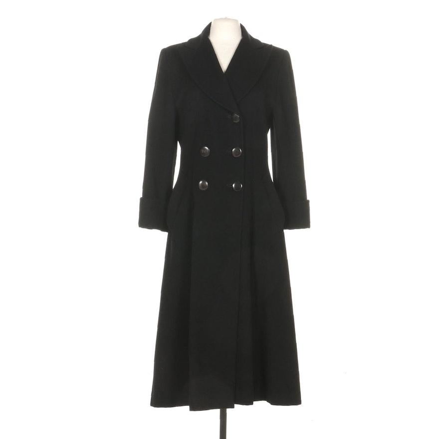 Christian Dior Loro Piana Black Cashmere Double-Breasted Coat
