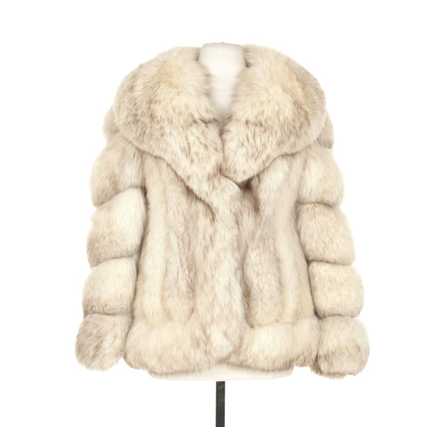 Sectioned Fox Fur With Leather Jacket From Traeger-Bolon