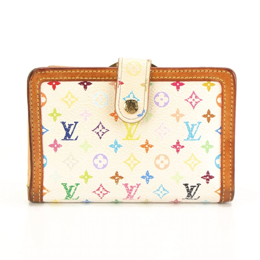 Louis Vuitton French Kisslock Wallet in Multicolore Monogram Canvas