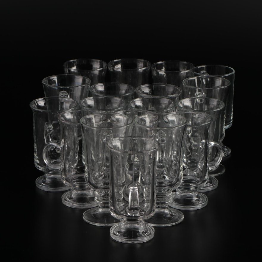 Anchor Hocking, Libbey Glass, and Other Glass Irish Coffee Mugs
