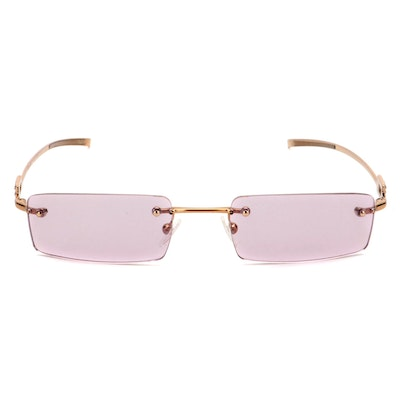 Gucci Strass Rimless Sunglasses with Case