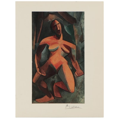 """Offset Lithograph After Pablo Picasso """"Dryad,"""" Late 20th Century"""
