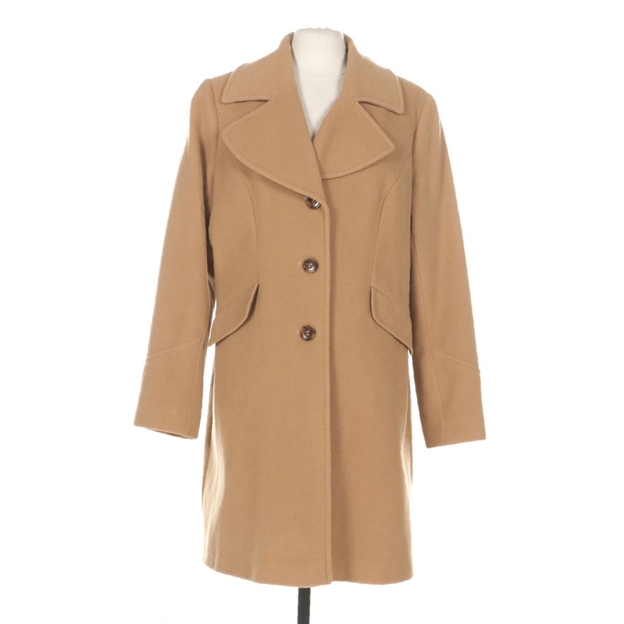 DKNY Donna Karen New York Wool Button-Front Coat