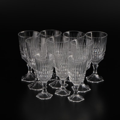 Glass Wine Goblets, Mid to Late 20th Century