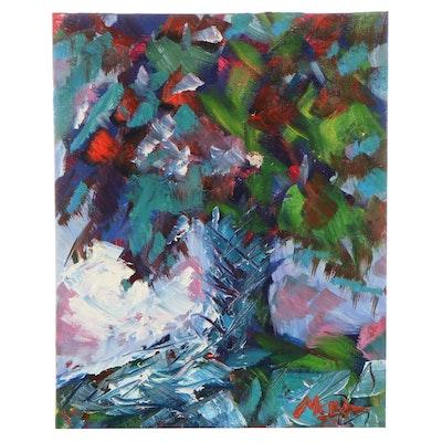 "Claire McElveen Oil Painting ""Blue Palmetto"""