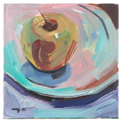 "Jose Trujillo Oil Painting ""The Green Apple"""
