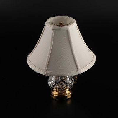 """Waterford """"Lismore"""" Petite Crystal Boudoir Lamp with Shade"""