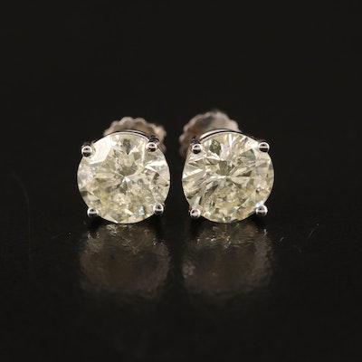 14K 1.94 CTW Diamond Stud Earrings