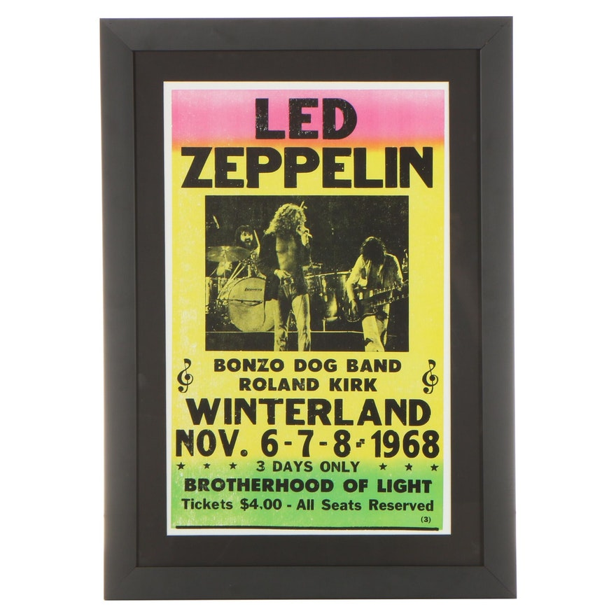 Giclée Concert Poster for Led Zeppelin, 21st Century